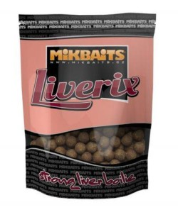 MIKBAITS Boilies Liverix Mazaná škeble - 20mm/1kg