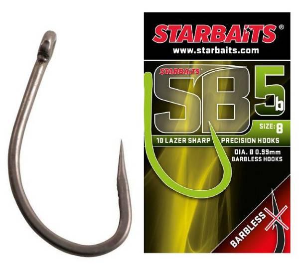 STARBAITS Háčik SB5 bez protihrotu  (10ks) - očko