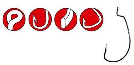 GAMAKATSU Offsetový háčik Worm Red/červený