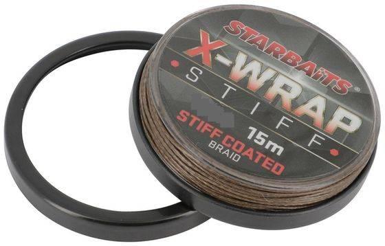 STARBAITS Nadväzcová šnúrka X-WRAP Stiff Coated 15m