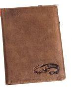 Kožené puzdro na doklady SUMEC - hnedé