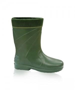 Vrchný golier čižiem chráni nohu pred vniknutím chladu dovnútra. Vnútorná vložka je vyberateľná a príjemná na nohu. Čižmy sú zo super ľahkého materiálu novej generácie EVA. Príjemne zelená farba. Požitie do -30°C.