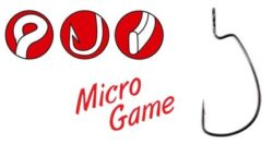 GAMAKATSU Offsetový háčik Worm 325 Micro Game-8ks/bal.