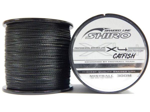 MISTRALL Šnúra Shiro Catfish 300m - čierna