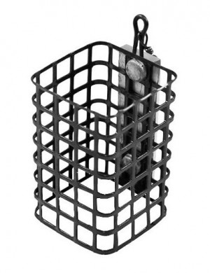 Profesionálne feedrové krmítko hranatého tvaru s dôkladne opracovanými hranami košíka. Vyrobené je z pevného drôtu, ktorý bráni jeho preliačeniu počas plnenia krmivom. Osadené je obratlíkom pre pohodlnejšie pripevnenie k montáži.