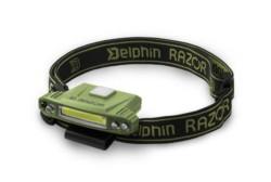 DELPHIN Čelová lampa RAZOR USB