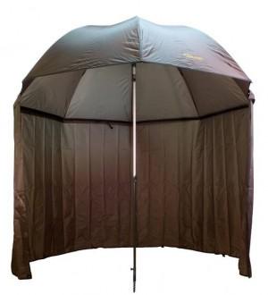 DELPHIN Dáždnik s predĺženou bočnicou 250cm zelený
