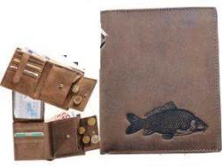 Kožená peňaženka KAPOR - výška/hnedá