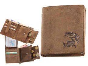 Kožená peňaženka ŠŤUKA - výška/hnedá
