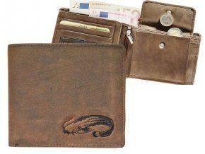 Kožená peňaženka SUMEC - šírka/hnedá