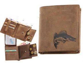 Kožená peňaženka ZUBÁČ - výška/hnedá
