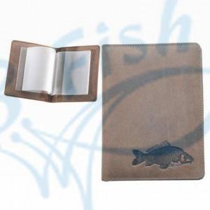 Kožené púzdro na doklady KAPOR - hnedé