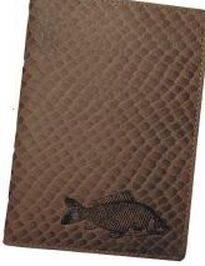 Kožené puzdro na doklady KAPOR - hnedé šupinatá koža