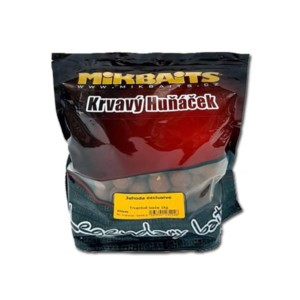 MIKBAITS Boilies Krvavý Huňáček Jahoda exclusive 20mm-1kg