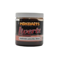 MIKBAITS Liverix boilies v dipe 250ml Mazaná škeble 20mm