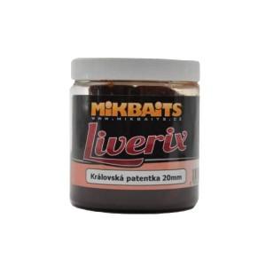 MIKBAITS Liverix boilies v dipe 250ml Mazaná škeble 20mm