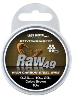 SAVAGE GEAR Oceľové lanko Raw49 - 0,36mm/10m/10kg