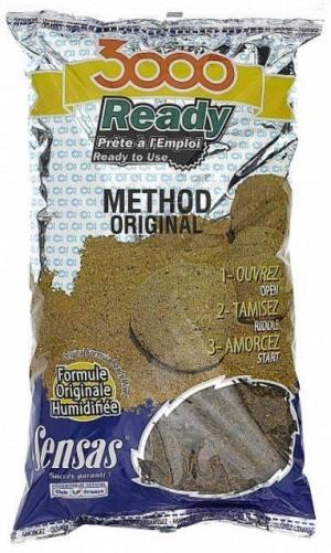 SENSAS Krmivo predvlhčené 3000 Ready Original Method Mix 1,25kg