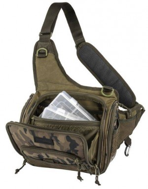 SPRO Taška s 2 krabičkami - Double Camouflage Shoulderbag