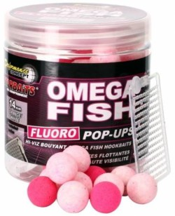 STARBAITS Boilies pop up Fluo Omega Fish 14mm/80g