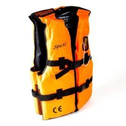 Vesta plávacia oranžová s píšťalkou veľ.M