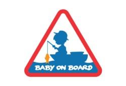 DELPHIN Nálepka BABY ON BOARD - 1ks