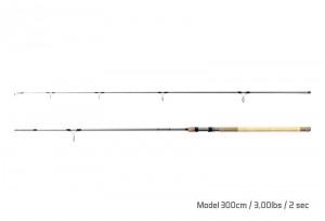 DELPHIN Kaprový prút TORKS CORK 300cm/3lbs/2dielny